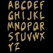알파벳 문자 3d model