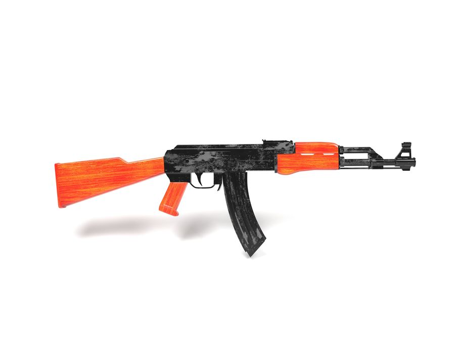 Ak-47 Kalashnikov royalty-free 3d model - Preview no. 1