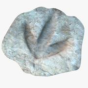 skamielina śladu dinozaura 3d model