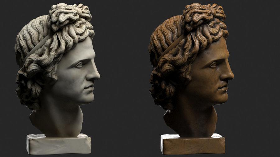 Apollo Head royalty-free 3d model - Preview no. 3