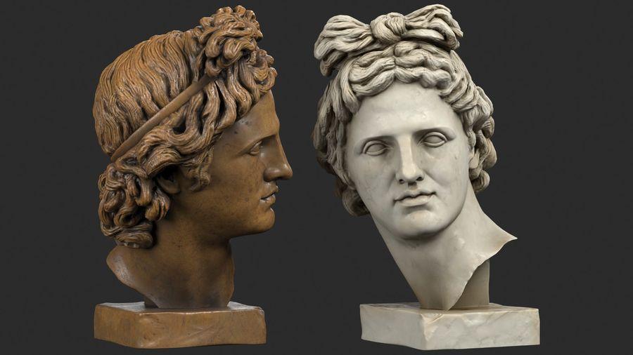 Apollo Head royalty-free 3d model - Preview no. 2