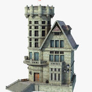 Tower Medieval House 3d model