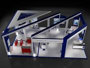 Booth Exhibition Stand a60 3d model
