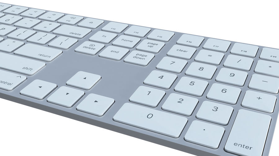 Apple Wireless Keyboard royalty-free 3d model - Preview no. 6