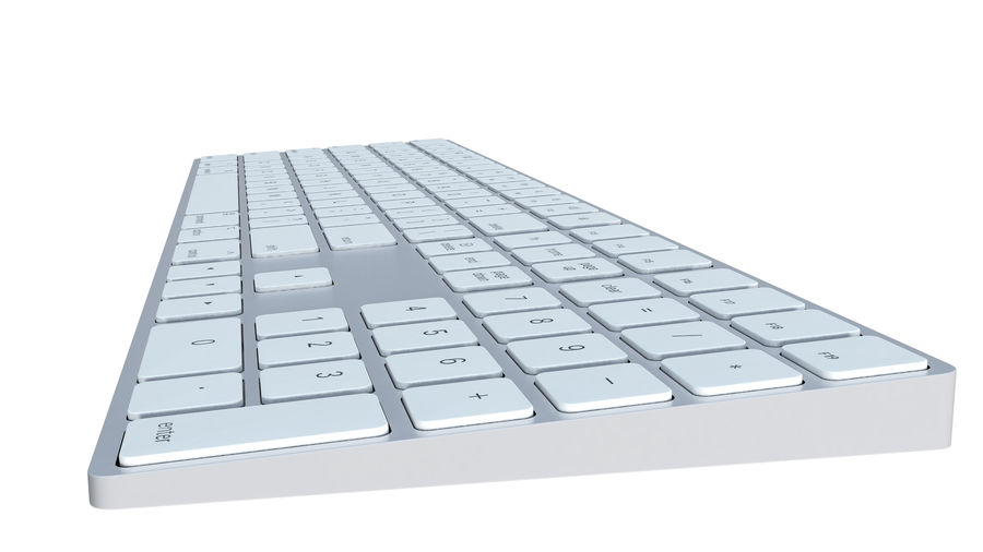 Apple Wireless Keyboard royalty-free 3d model - Preview no. 8