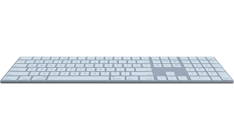 Apple Wireless Keyboard royalty-free 3d model - Preview no. 3