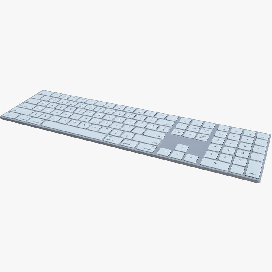 Apple Wireless Keyboard royalty-free 3d model - Preview no. 1