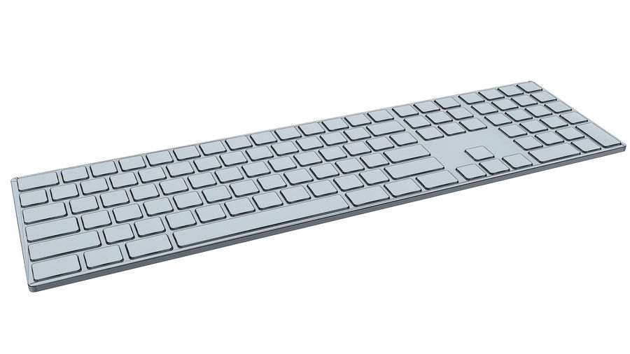 Apple Wireless Keyboard royalty-free 3d model - Preview no. 10
