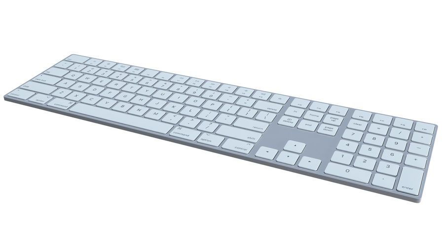 Apple Wireless Keyboard royalty-free 3d model - Preview no. 2