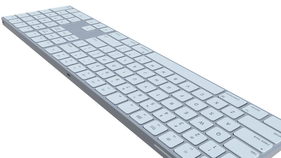 Apple Wireless Keyboard royalty-free 3d model - Preview no. 4