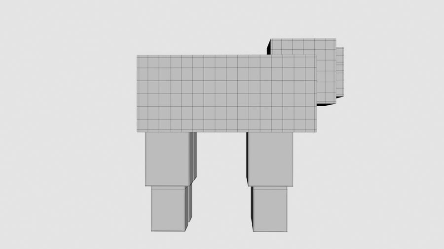 Minecraft schapen opgetuigd royalty-free 3d model - Preview no. 12