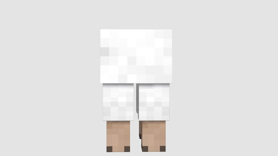 Minecraft schapen opgetuigd royalty-free 3d model - Preview no. 8