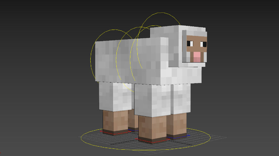 Minecraft schapen opgetuigd royalty-free 3d model - Preview no. 15