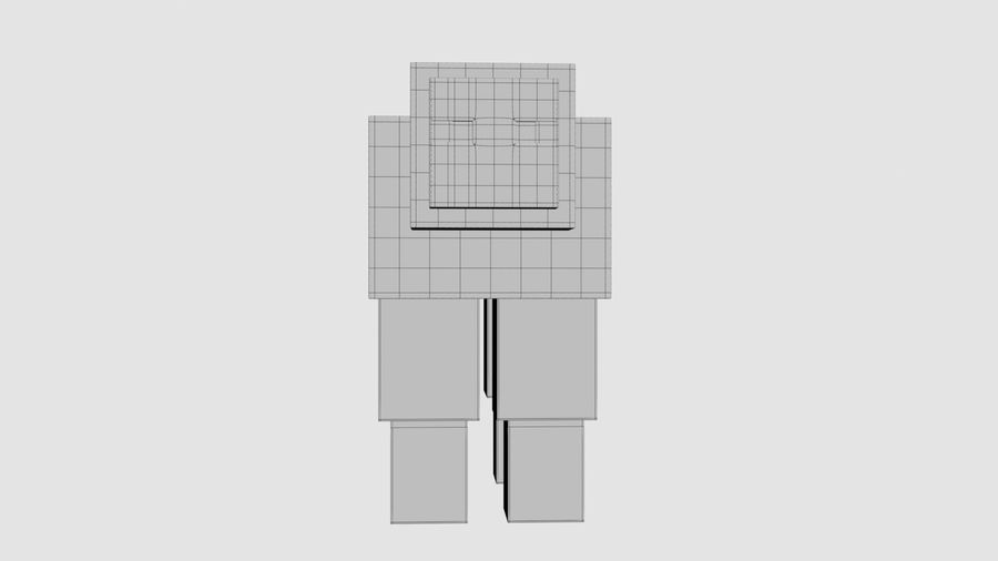 Minecraft schapen opgetuigd royalty-free 3d model - Preview no. 11