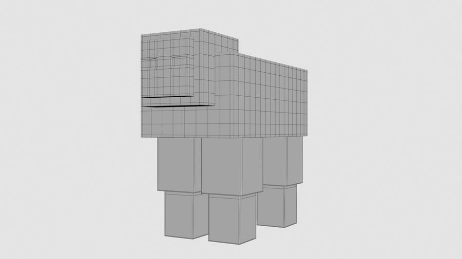 Minecraft schapen opgetuigd royalty-free 3d model - Preview no. 10