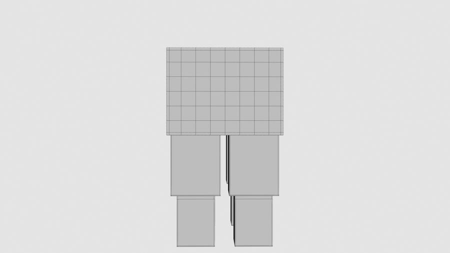 Minecraft schapen opgetuigd royalty-free 3d model - Preview no. 13