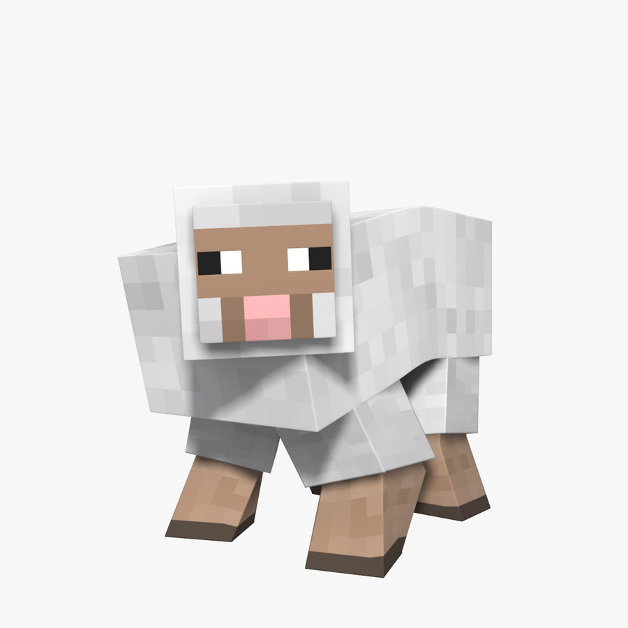 Minecraft schapen opgetuigd royalty-free 3d model - Preview no. 1