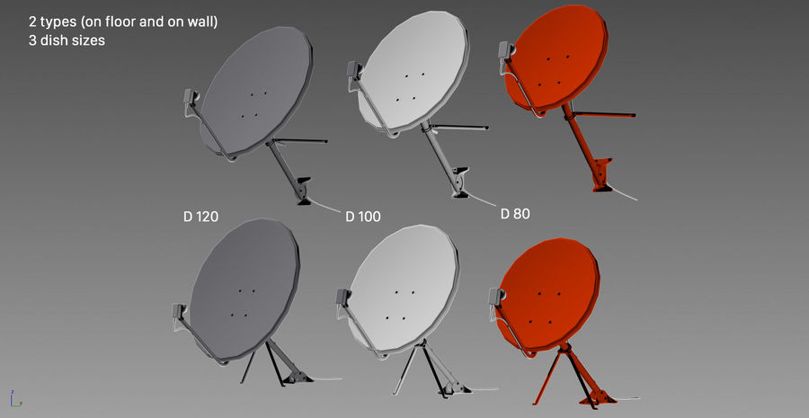 Satellite Dish royalty-free 3d model - Preview no. 29