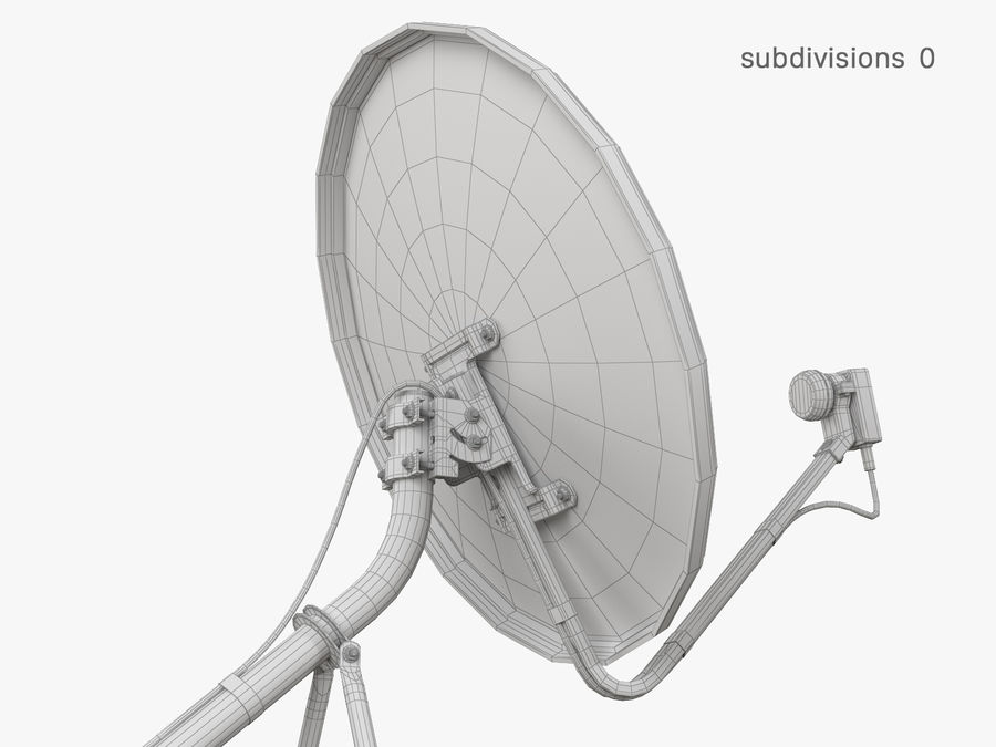 Satellitenschüssel royalty-free 3d model - Preview no. 35
