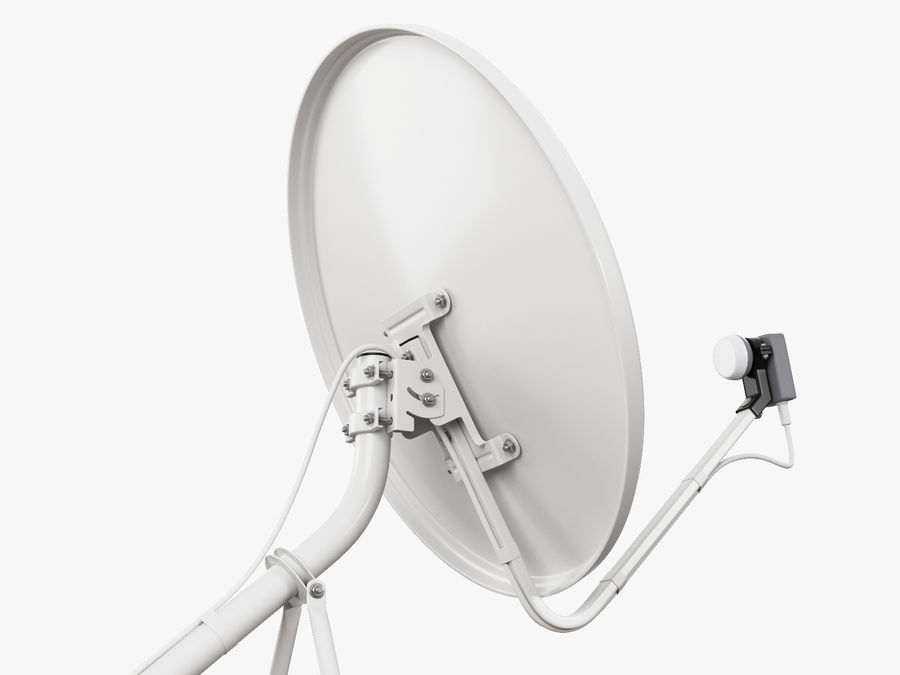 Satellite Dish royalty-free 3d model - Preview no. 17