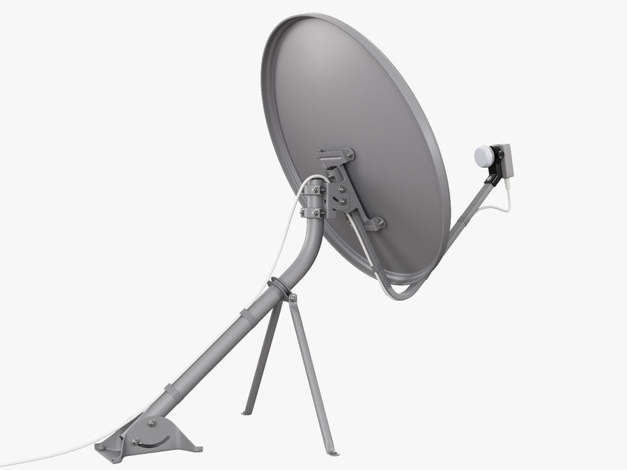 Satellite Dish royalty-free 3d model - Preview no. 19
