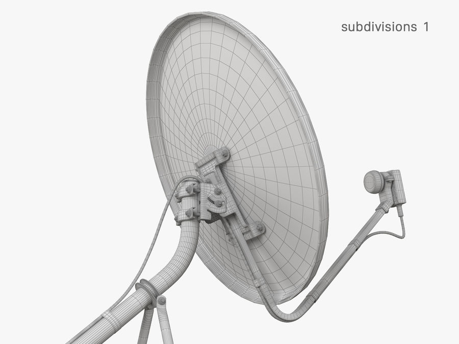 Satellitenschüssel royalty-free 3d model - Preview no. 36
