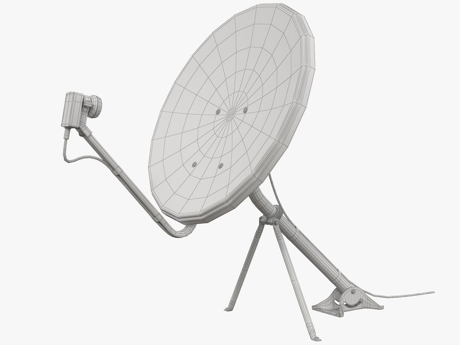 Satellitenschüssel royalty-free 3d model - Preview no. 33