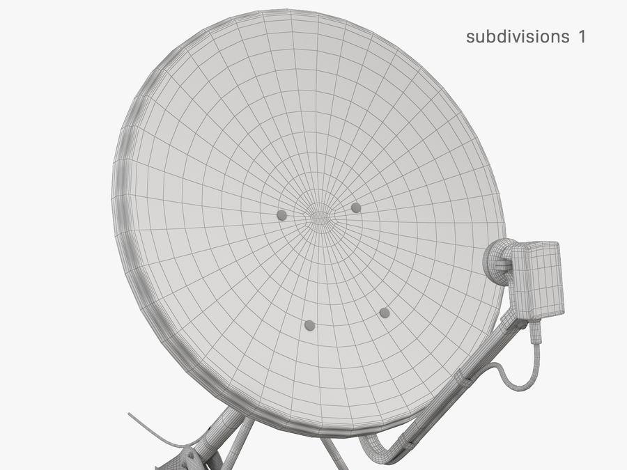 Satellitenschüssel royalty-free 3d model - Preview no. 32