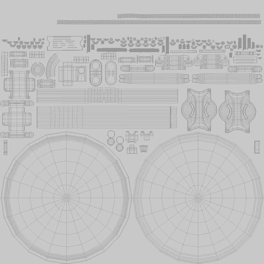 Satellitenschüssel royalty-free 3d model - Preview no. 28