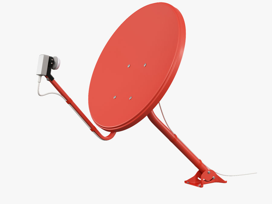 Satellitenschüssel royalty-free 3d model - Preview no. 3