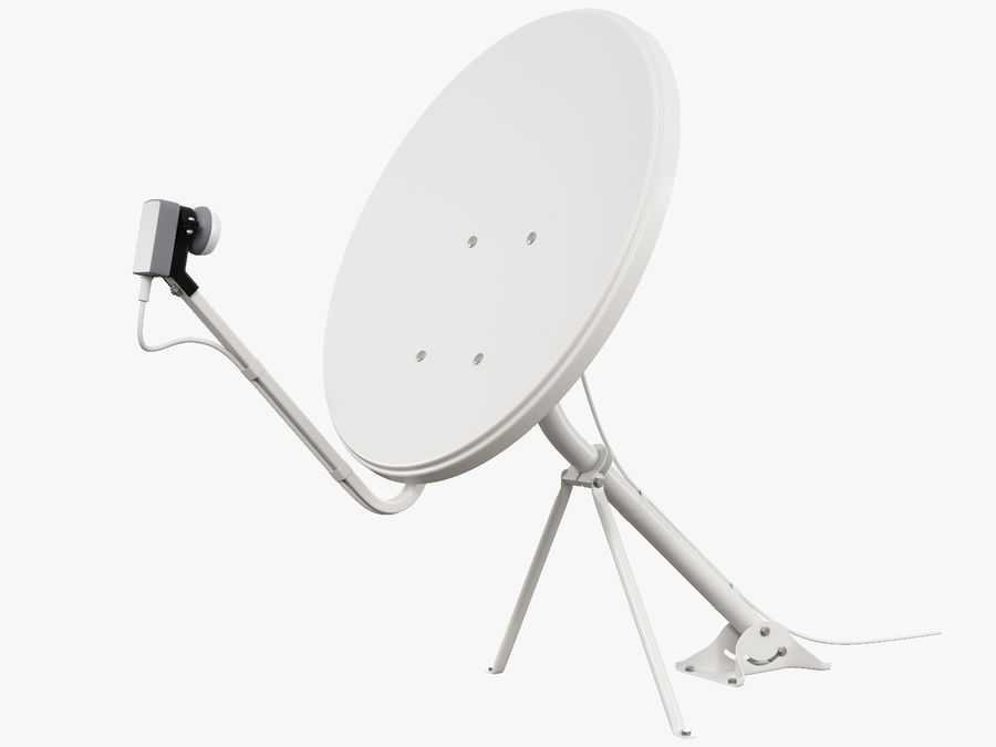 Satellite Dish royalty-free 3d model - Preview no. 6