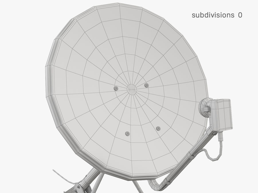 Satellite Dish royalty-free 3d model - Preview no. 31