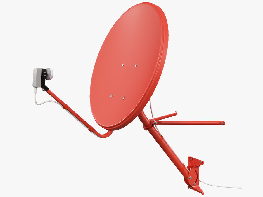 Satellitenschüssel royalty-free 3d model - Preview no. 4