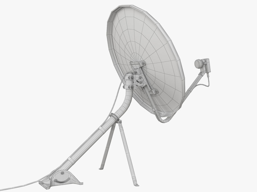 Satellite Dish royalty-free 3d model - Preview no. 34