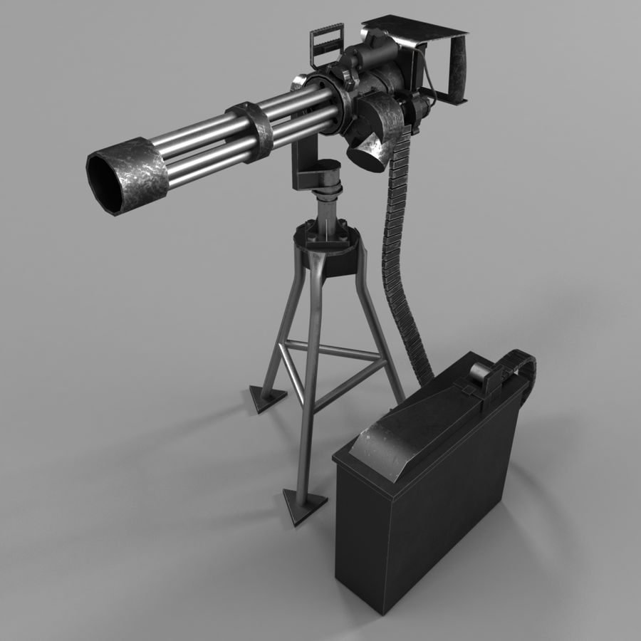 M134 Minigun royalty-free 3d model - Preview no. 1