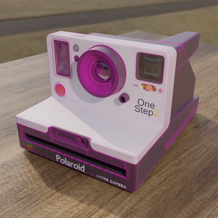 Polaroid royalty-free 3d model - Preview no. 6