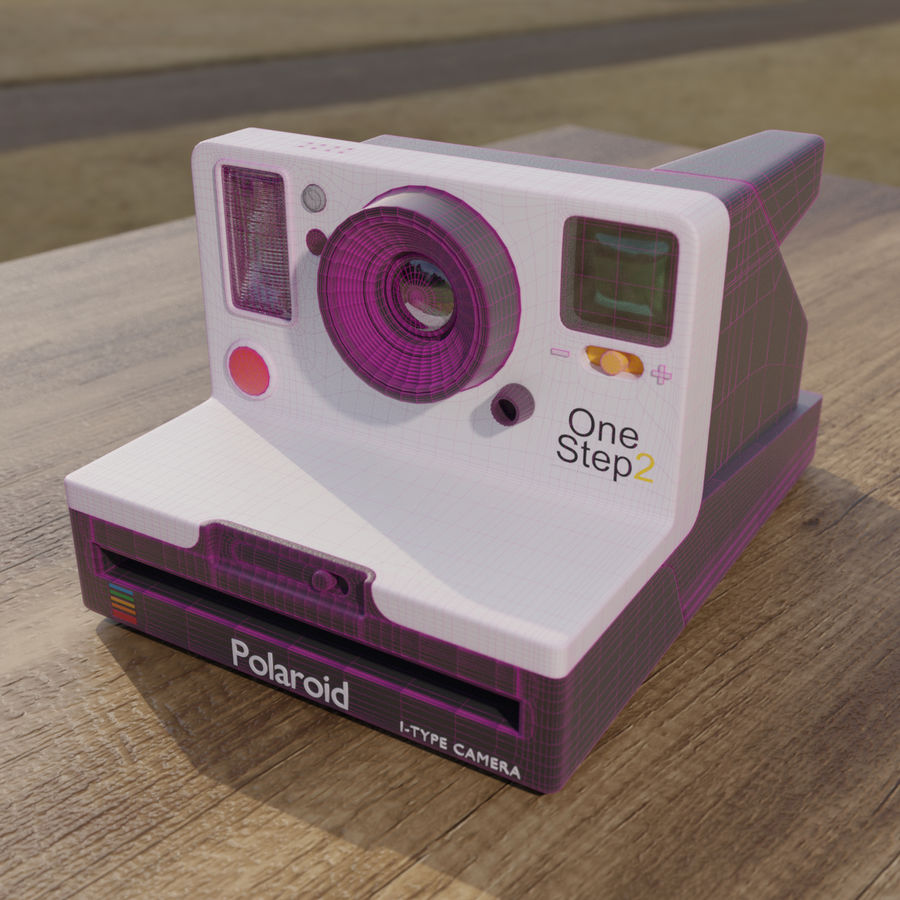 Polaroid royalty-free 3d model - Preview no. 5