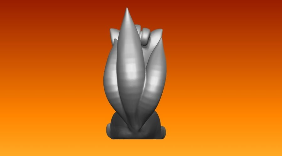 vos standbeeld royalty-free 3d model - Preview no. 4