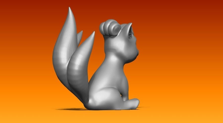 vos standbeeld royalty-free 3d model - Preview no. 3