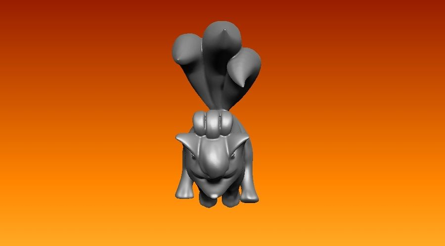vos standbeeld royalty-free 3d model - Preview no. 7