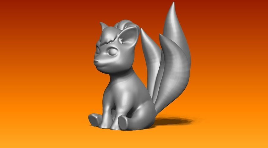 vos standbeeld royalty-free 3d model - Preview no. 5