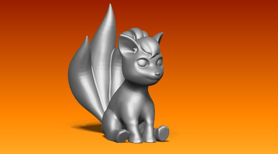 vos standbeeld royalty-free 3d model - Preview no. 1