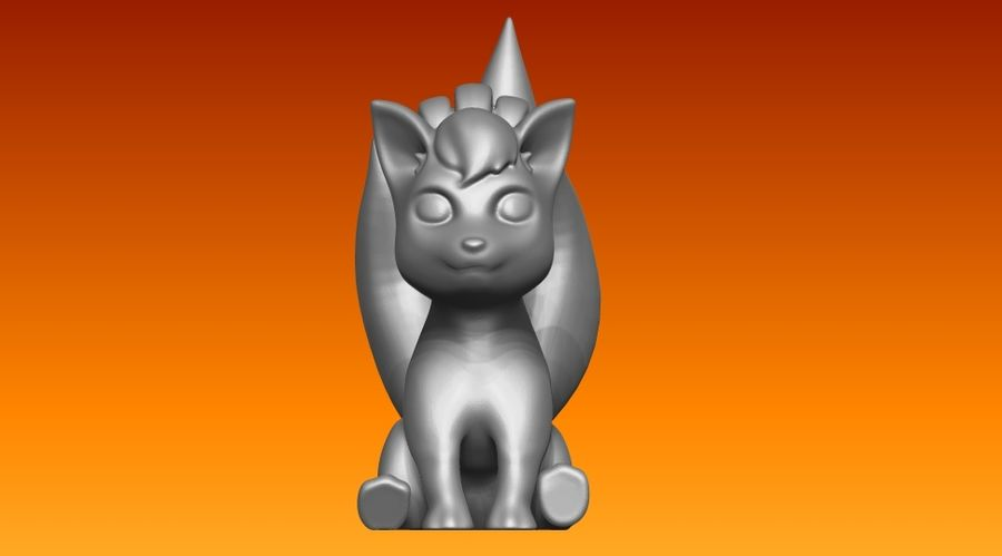 vos standbeeld royalty-free 3d model - Preview no. 6