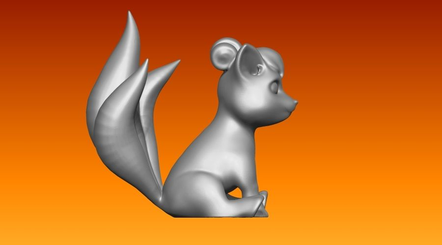 vos standbeeld royalty-free 3d model - Preview no. 2