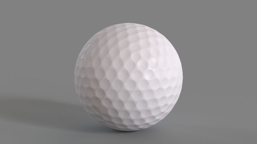 Golfbal laag poly royalty-free 3d model - Preview no. 7