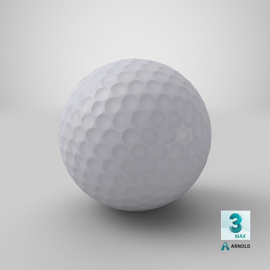 Golfbal laag poly royalty-free 3d model - Preview no. 20