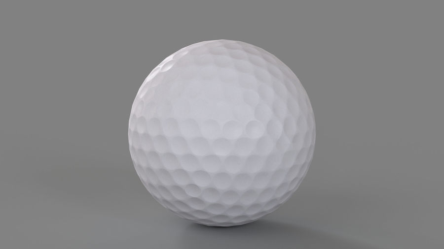 Golfbal laag poly royalty-free 3d model - Preview no. 5