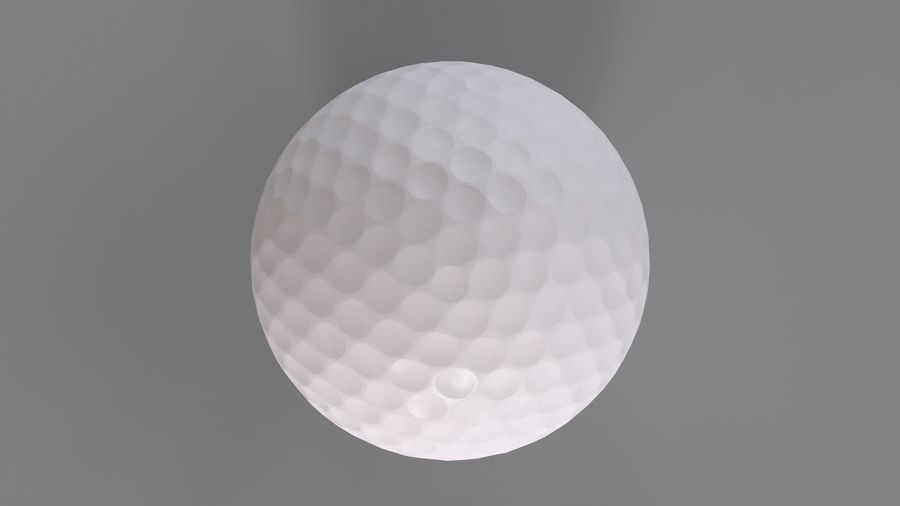 Golfbal laag poly royalty-free 3d model - Preview no. 9