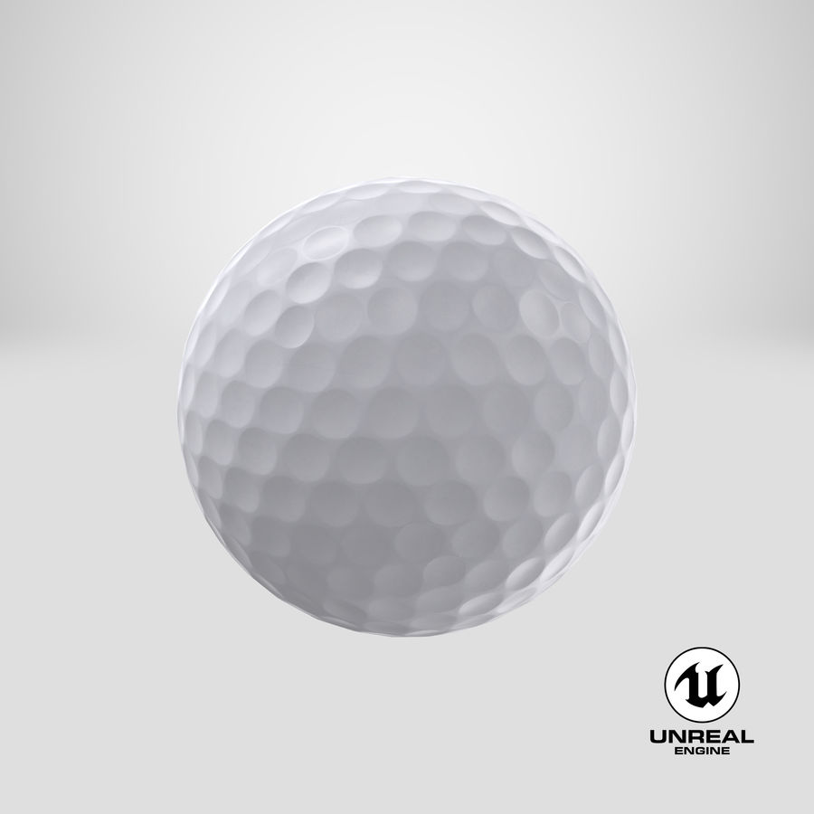 Golfbal laag poly royalty-free 3d model - Preview no. 19