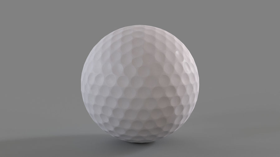 Golfbal laag poly royalty-free 3d model - Preview no. 6
